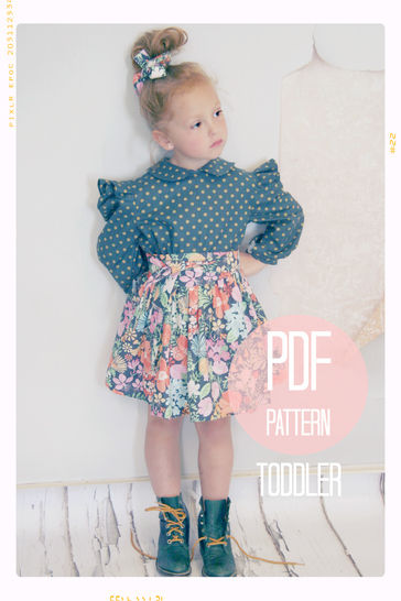 Extra Full Twirl Skirt + Sash Sewing Pattern - Baby + Toddler (18 months, 2T + 3T) at Makerist - Image 1