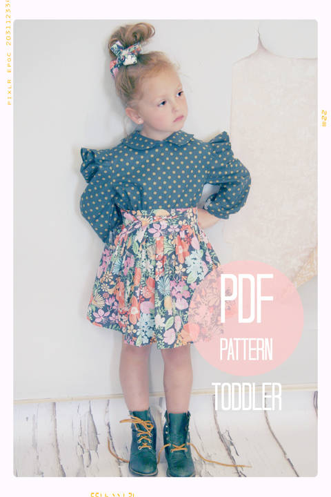 Extra Full Twirl Skirt + Sash Sewing Pattern - Baby + Toddler (18 months, 2T + 3T) at Makerist