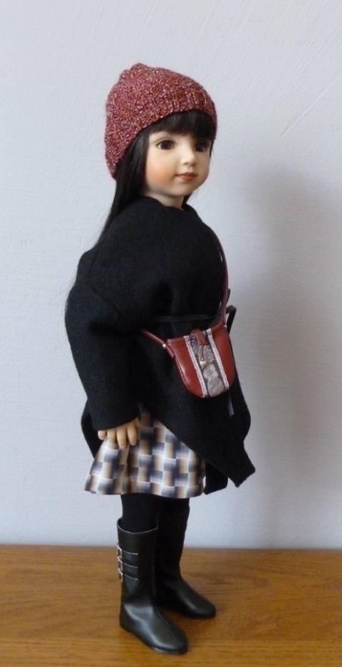Black checked fabric…(pattern : 4 pieces for 18 inch doll, fit American Girl, We Girl, Maru and Friend, Bonnie and Pearl, Götz at Makerist