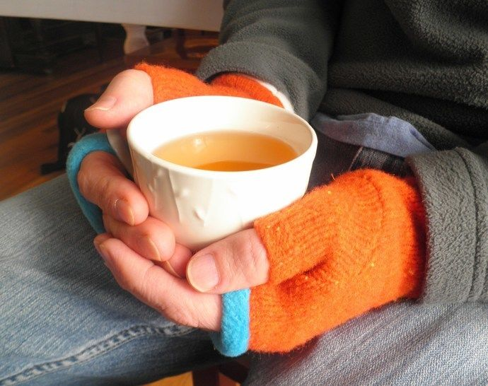 Fingerless Mitten - Upcycled - PDF Sewing Pattern at Makerist - Image 1