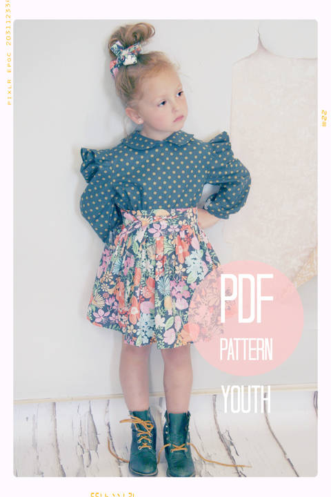 Extra Full Twirl Skirt + Sash Sewing Pattern - Youth (7 + 8)