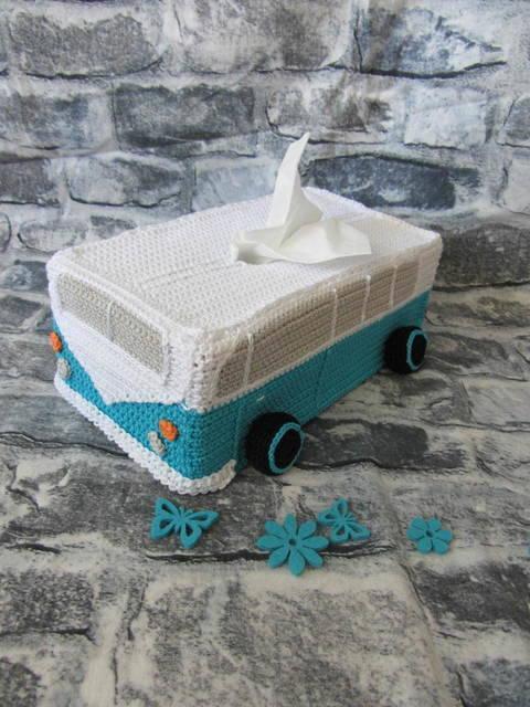 Taschentücher Box Bus Häkelanleitung Kosmetiktücher bei Makerist