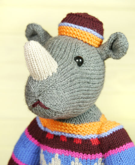 MARVIN THE RHINO knitting pattern at Makerist - Image 1