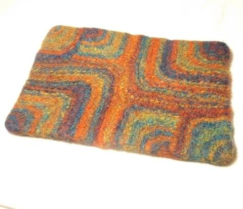 Rainbow Squares- Place Mat knitting Pattern