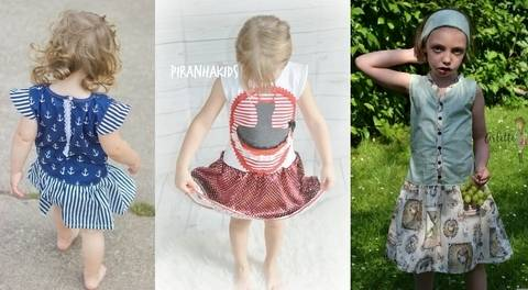 Kleid Cute and Simple Gr.92-140 ,Nähanleitung inkl. Schnittmuster