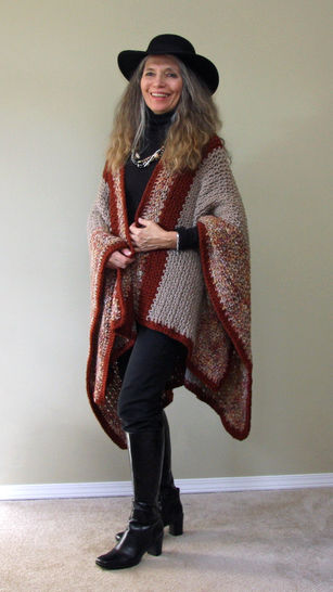"Crochet Pattern:  ""Harvest Ruana"" Poncho at Makerist - Image 1"