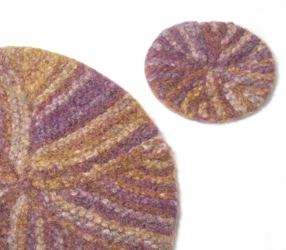 Table Mat- Pinwheel - knitting pattern