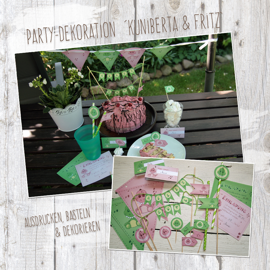 """Kuniberta & Fritz"" - DIY Partydekoration"