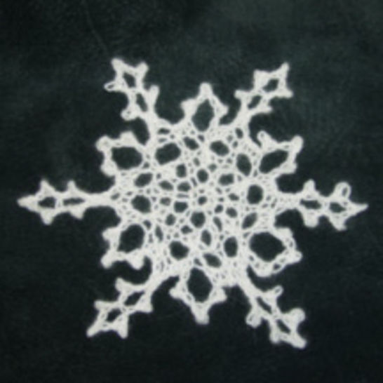 Knitted Snowflake Pattern at Makerist - Image 1