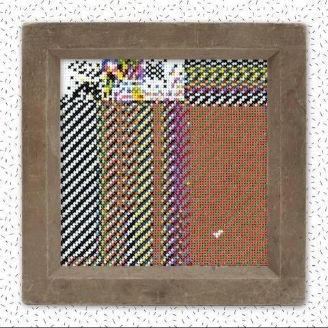 Kreuzstich Stickmuster . GLITCH II . geometrisch abstrakt