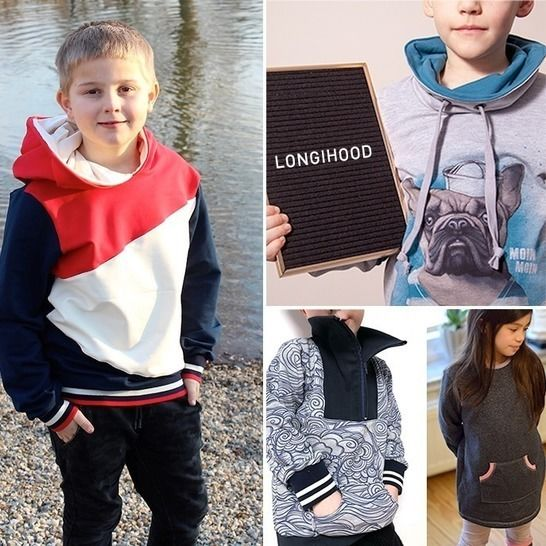 LongiHood: Kinder-Sweater / Kleid Gr. 86 - 164 • Näh-e-Book bei Makerist - Bild 1