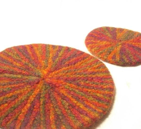 Starburst Mat and Coaster set- knitting pattern at Makerist - Image 1