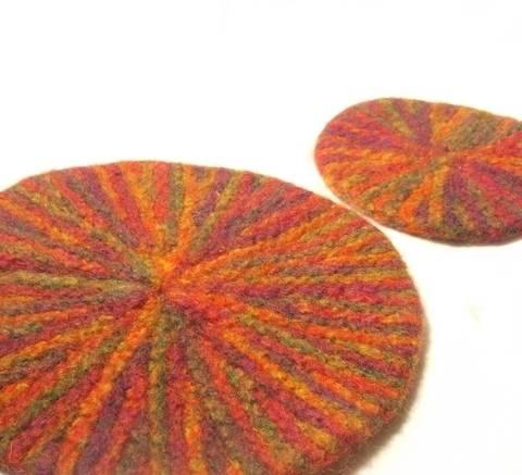 Starburst Mat and Coaster set- knitting pattern