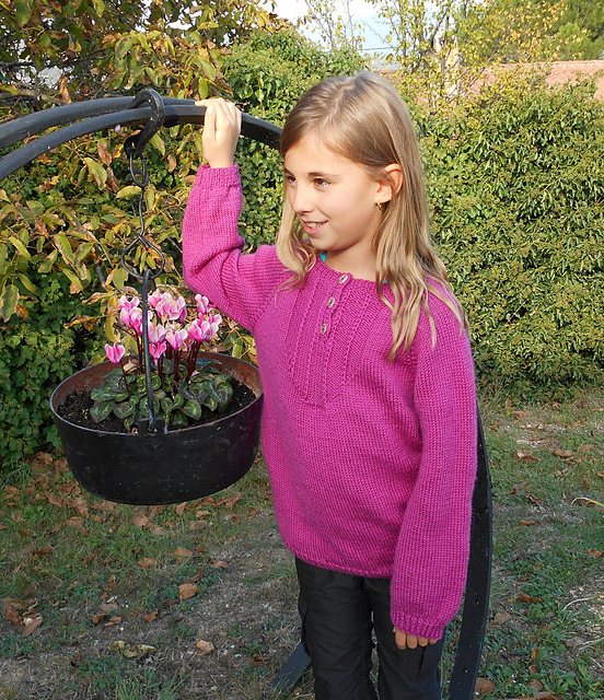 Pull Ksour fille 2-12 ans - tricot
