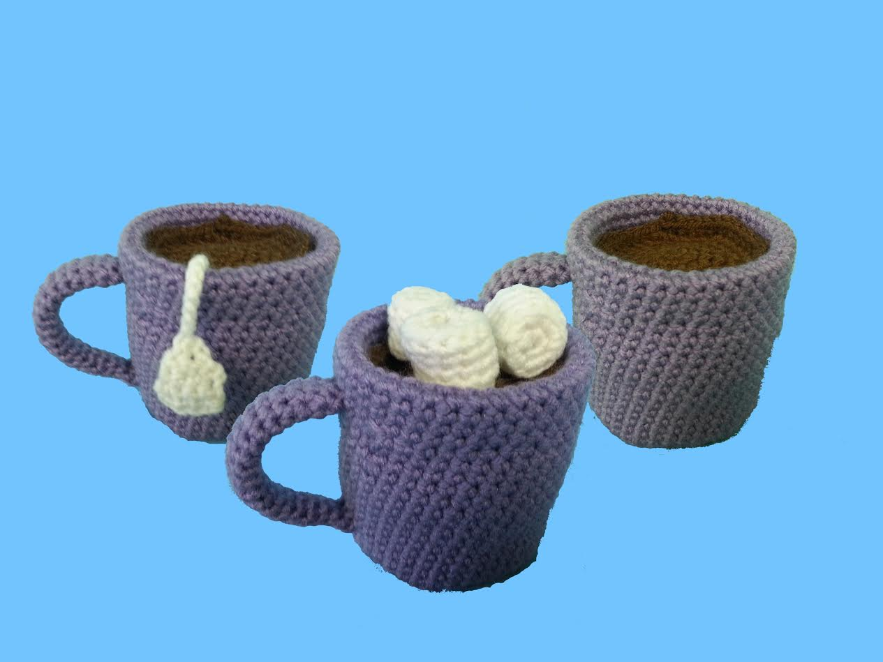 Coffee Tea & Cocoa Amigurumi Crochet Pattern + Tutorial - Beginner Friendly