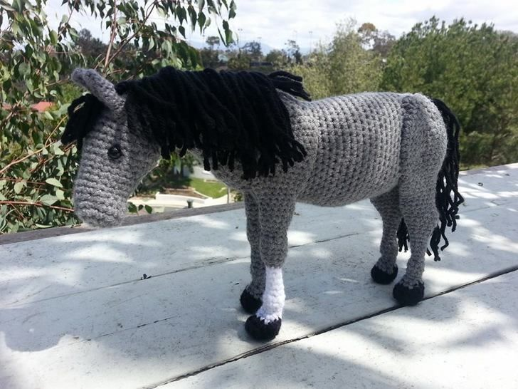 Amigurumi Pattern Tiny Horse Crochet – miniatures Horse – animals ... | 546x728