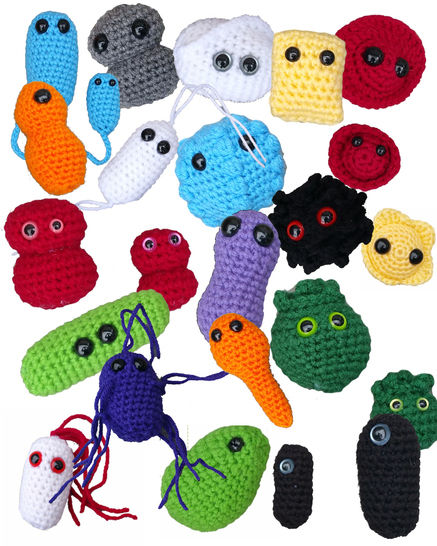 19 Giant Microbe Patterns in 1 - Ebook With 38 Total Patters - Germ Amigurumi - Beginner Friendly at Makerist - Image 1
