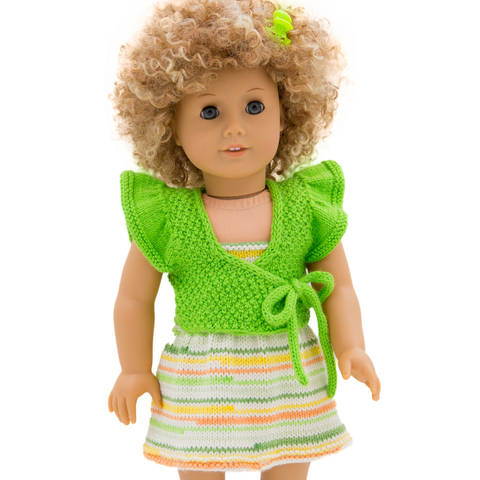 Summer dress and shrug  18 inch dolls  at Makerist