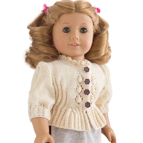 Folk dirndl cardigan 18 inch  dolls  at Makerist