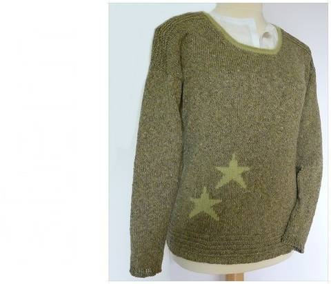 E-BOOK - Pulli in Tweed-Optik mit Sternchen bei Makerist