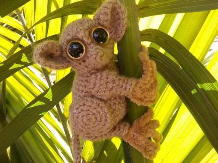 Phillippine Tarsier Lemur Amigurumi Crochet Patter + Tutorial - Beginner Friendly at Makerist - Image 1