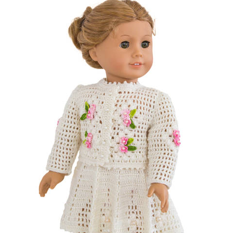 Summer  cardigan and skirt 18 inch  dolls  at Makerist