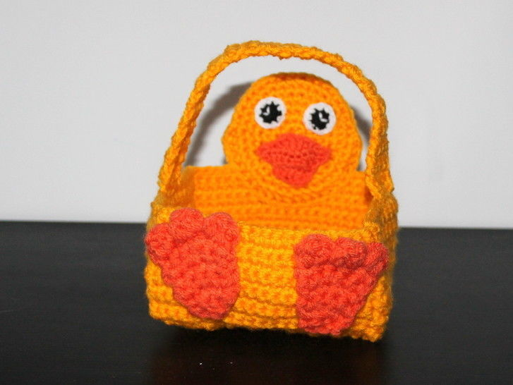 crochet pattern chick basket  at Makerist - Image 1