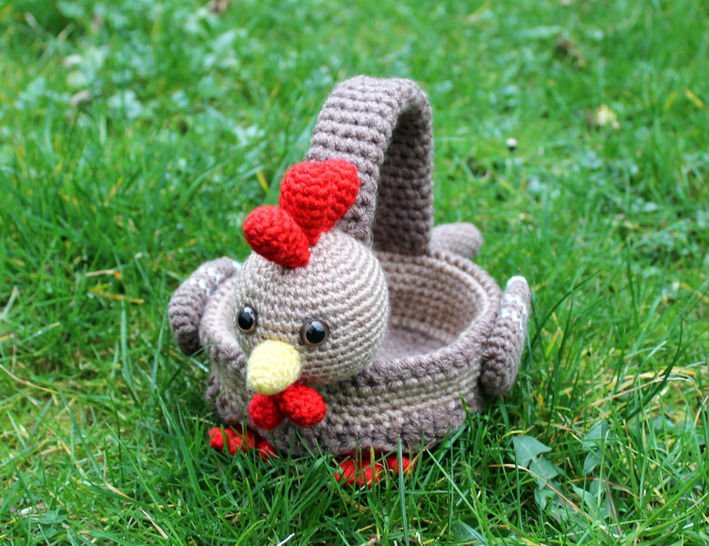 crochet pattern chickens basket for eastern  at Makerist - Image 1