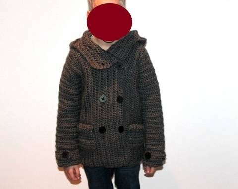 childrens jacket in 5 different sizes crochet pattern  at Makerist