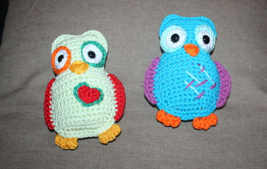 crochet pattern coloured owls  at Makerist - Image 1