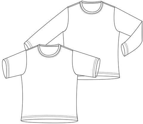 """""""Basic-Shirt"""", Gr.98-164 bei Makerist"""