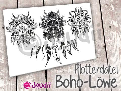 Plotterdatei Boho-Löwe - kleingewerbliche Lizenz