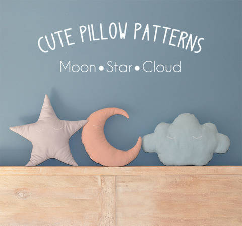 Moon - Star - Cloud Pillow Sewing Pattern // Make your own // Toy Pattern  at Makerist