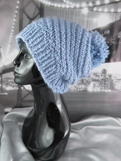 Superfast Swirl Bobble Slouch Hat CIRCULAR knitting pattern