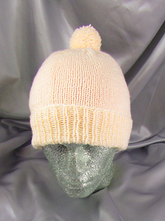 Simple Bobble Beanie CIRCULAR knitting pattern