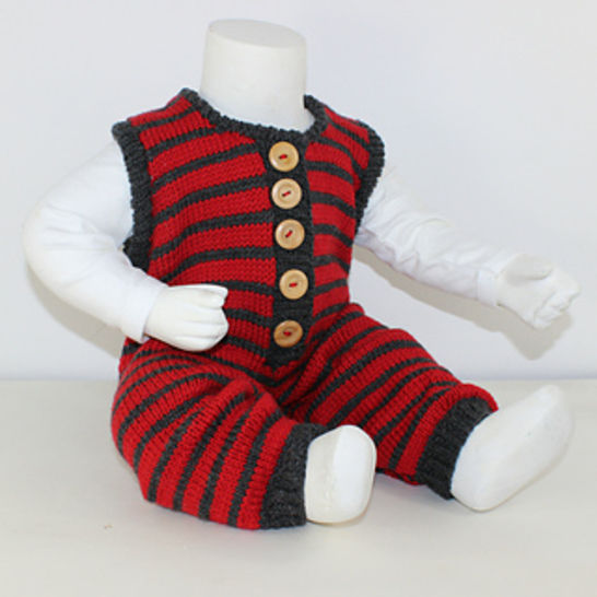 FREE Cloudborn Fibers Baby Stripe Dungarees at Makerist - Image 1