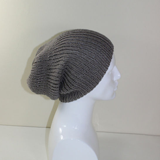 Unisex Rib Slouch Hat CIRCULAR knitting pattern at Makerist - Image 1