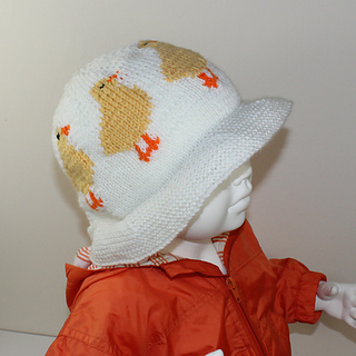 Baby and Cild Easter Chick Sun Hat