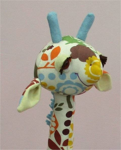 Gemini Giraffe soft toy sewing pattern.