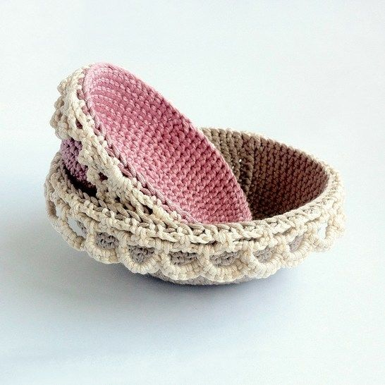 Lace-edged Nesting Bowls Crochet Pattern at Makerist - Image 1