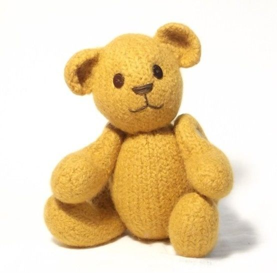 Felt Teddy Bear Knitting Pattern at Makerist - Image 1
