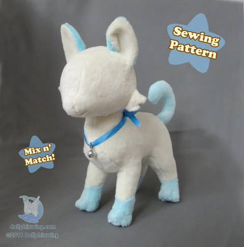 Cat Feline Plush Sewing Pattern at Makerist