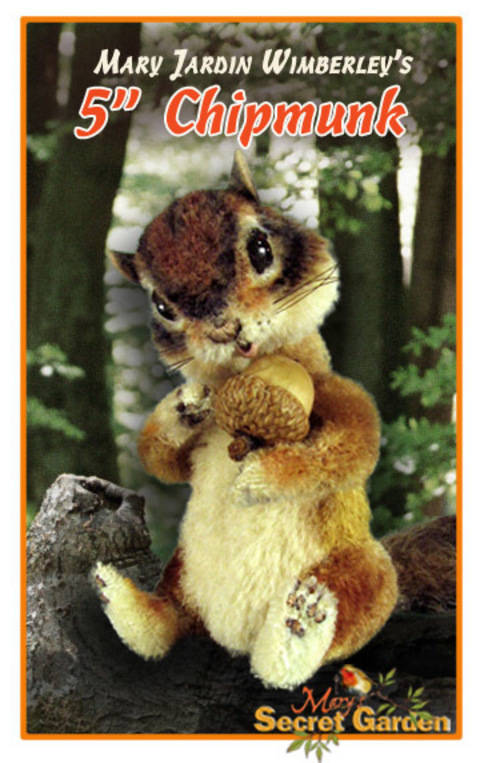 Chipmunk Sewing Pattern, Jointed, Squirrel Toy, Posable, Woodland