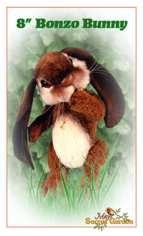 20 Cm Bunny Sewing Pattern, Teddy Bear Style Rabbit, Plush Jointed DIY