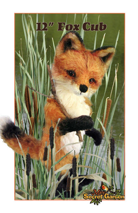 30cm Plus Fox Sewing Pattern, Teddy Bear Style Fox Toy, Posable  at Makerist