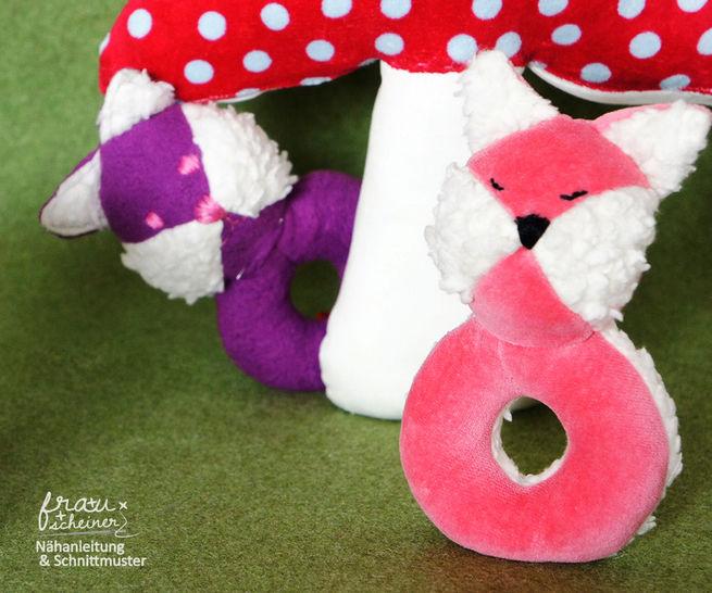 Nähanleitung Greifling und Babyrassel Fuchs bei Makerist - Bild 1
