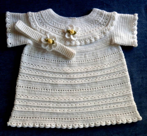 Special Occassion Newborn Baby Dress Long or Short Crochet Pattern  at Makerist