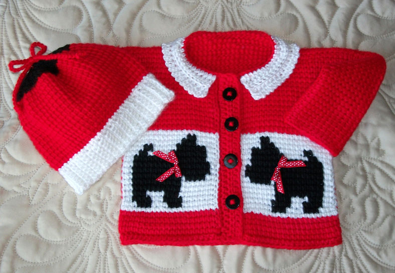 Baby Scottie Dog Sweater and Hat Tunisian Crochet Pattern at Makerist - Image 1