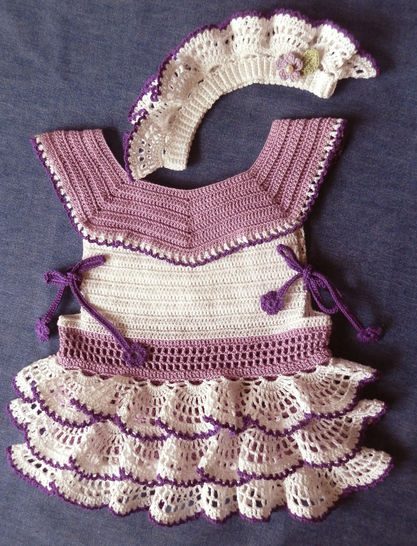 Baby Girl Ruffled Dress & Le Petite Bandeau Crochet Pattern  at Makerist - Image 1