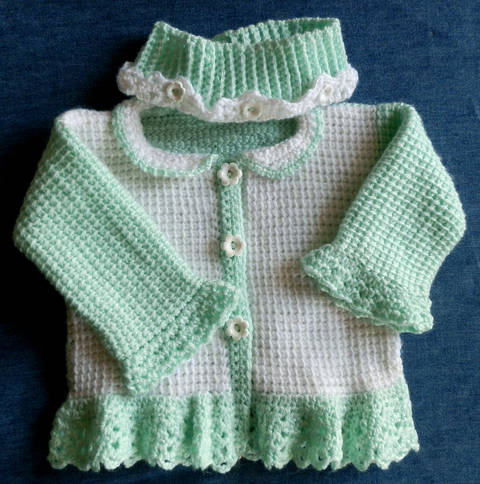 Baby Girl Sweater and Matching Headwarmer  9 to 12 mo Pattern  at Makerist